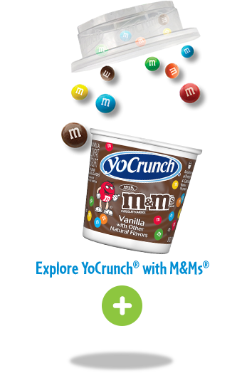 YoCrunch Yogurt with M and Ms Topping