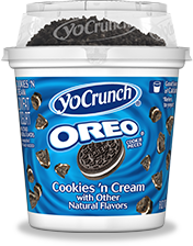 YoCrunch Cookies and Cream Yogurt with Oreo Topping