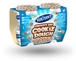 YoCrunch Vanilla Lowfat Yogurt with Chocolate Chip Cookie Dough 4 Pack