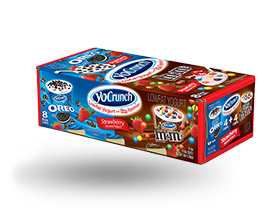 YoCrunch Strawberry Lowfat Yogurt with M&M's & Oreo Pieces Variety Pack