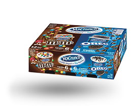 YoCrunch Vanilla Lowfat Yogurt with M&M's & Oreo Pieces Variety 12 Pack