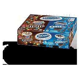 YoCrunch Vanilla Lowfat Yogurt with M&M's & Oreo Pieces Variety 12 Pack
