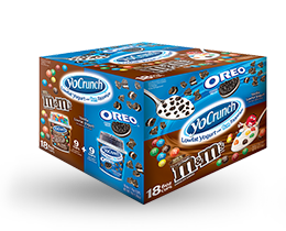 YoCrunch Vanilla Lowfat Yogurt with M&M's & Oreo Pieces Variety 18 Pack