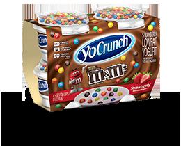 YoCrunch Strawberry Lowfat Yogurt with M&M's 4 Pack
