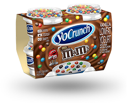 YoCrunch Vanilla Lowfat Yogurt with M&M's 4 Pack