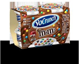 YoCrunch Vanilla Lowfat Yogurt with M&M's 4 Pack