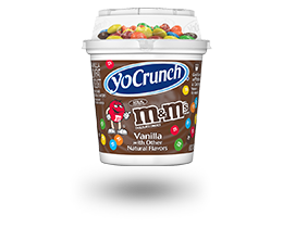 YoCrunch Vanilla Lowfat Yogurt with M&M's