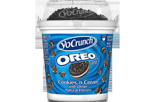 4. YoCrunch Oreo Cookies n' Cream Lowfat Yogurt에 대한 이미지 검색결과