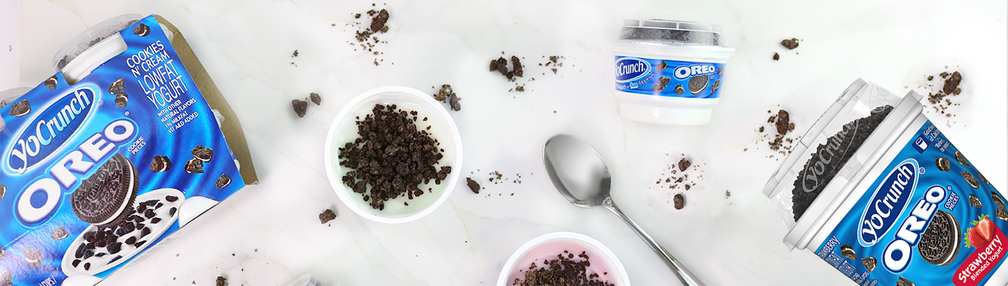 OREO® Cookie Pieces with Lowfat Yogurt in 3 Flavors