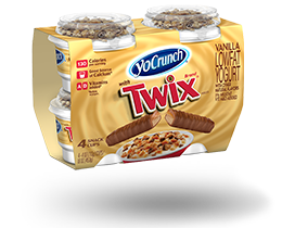 YoCrunch Vanilla Lowfat Yogurt with Twix Pieces 4 Pack