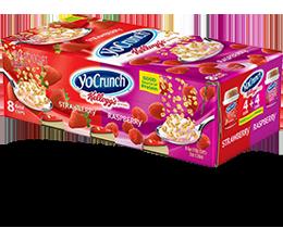 YoCrunch Strawberry & Raspberry Lowfat Yogurt with Kellogg's Granola