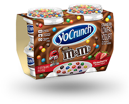YoCrunch Strawberry Lowfat Yogurt with M&M's 4 Pack