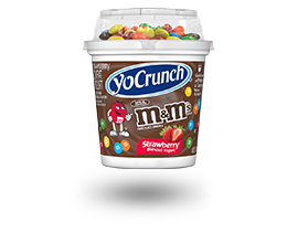 YoCrunch Strawberry Lowfat Yogurt with M&M's