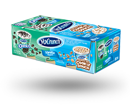 YoCrunch Mint Creme Lowfat Yogurt with Oreo & Chocolate Chip Cookie Dough Variety Pack
