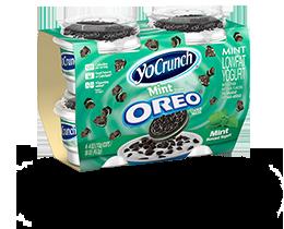 YoCrunch Mint Creme Lowfat Yogurt with Oreo Pieces 4 Pack