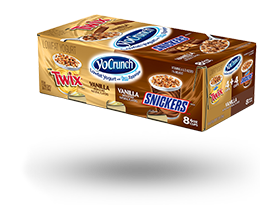 YoCrunch Vanilla Lowfat Yogurt with Snickers & Twix Variety Pack