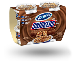 YoCrunch Vanilla Lowfat Yogurt with Snickers Pieces 4 Pack