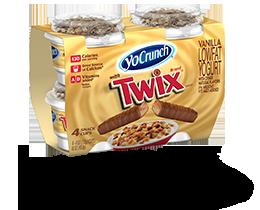 YoCrunch Vanilla Lowfat Yogurt with Twix Pieces 4 Pack